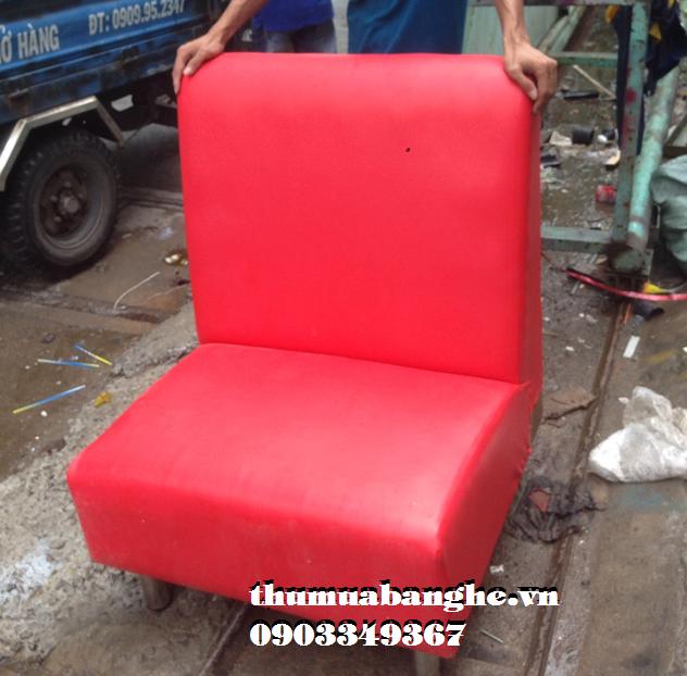 Sofa Đơn Cafe Bọc Simili Màu Đỏ
