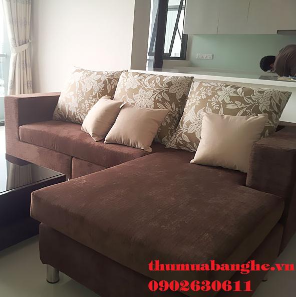 Thanh Lý Bộ Sofa Cũ Màu Nâu Hàng Đẹp 95%