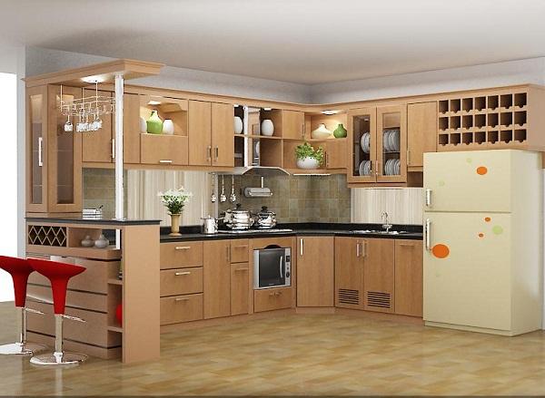 Cách Tạo Không Gian Đẹp Cho Tủ Bếp1